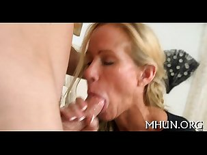 Large cock rewards milf with..
