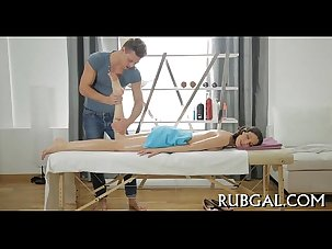 Beauty receives massage